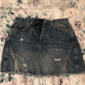 NWT Free People Jean Skirt